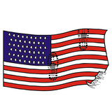 usa flag vector drawing