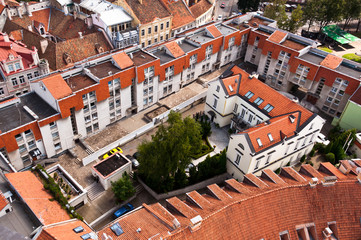 Rooftops of the Old Town of Vilnius, Lithuania