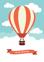 Hot Air Balloon Vintage Graphic