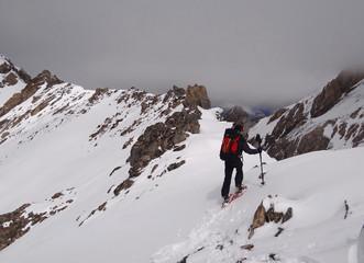 Randonnée en raquette dans les Alpes