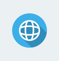 Globe - flat design with long shadow