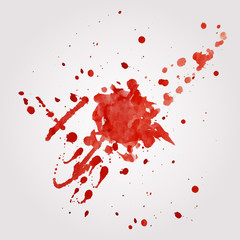 Vector blood splatter