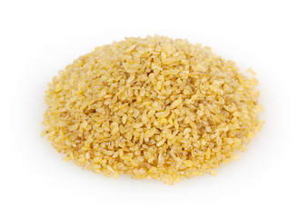 Bulgur isolated on white background