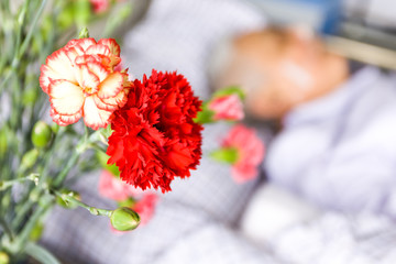 flowers for care in patient room