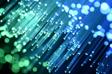 abstract view of fiber optics