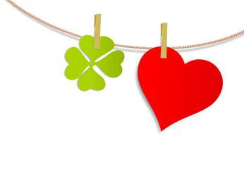 Klee und Herz
