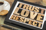 trust, love and respect words
