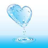 Melting heart of ice