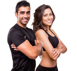 Two beautiful fitness instructors