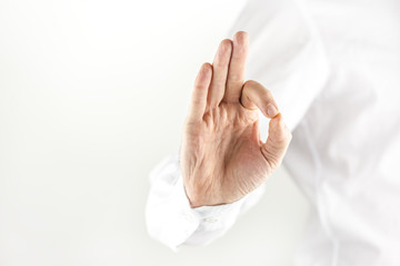 Man giving a perfect gesture