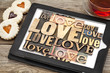 love word abstract typography