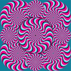 Optical illusion wave circles