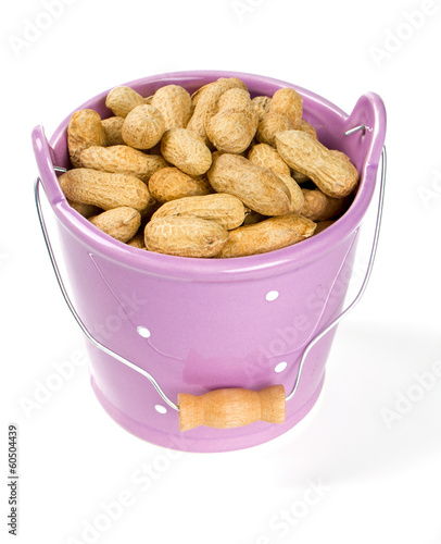 peanuts in a bucket