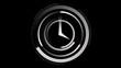 White clock ticking