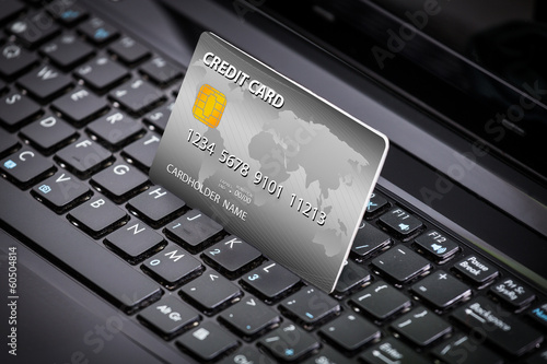 credit card a laptop