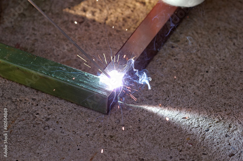 Iron Welding, Bright Light