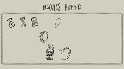 Business elements doodle appearing