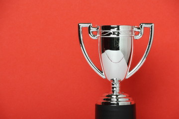 Toy Trophy Cup on a red background