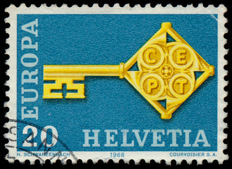 SWITZERLAND - CIRCA 1968: A stamp printed in Switzerland from th