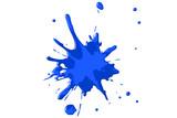 Farbspritzer - blau