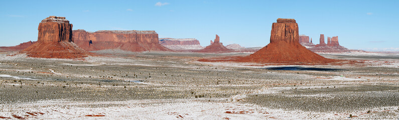Monument Valley panorama in winter
