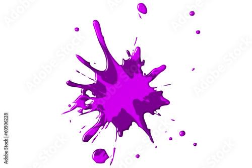 Poster Vormen Farbspritzer - violett/pink