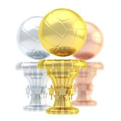 Award volleyball sport trophy cup