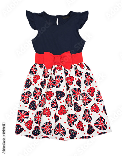 Girl dress isolated.