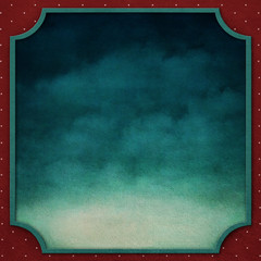 Square background with frame and  night sky