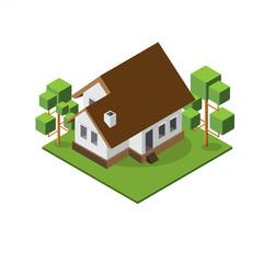Isometric Medium House