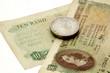 Vintage South African Banknotes And Silver Coins