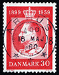 Postage stamp Denmark 1959 Frederik IX, King of Denmark