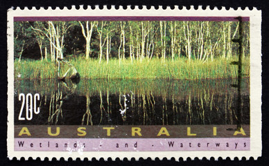 Postage stamp Australia 1992 Noosa River, Queensland