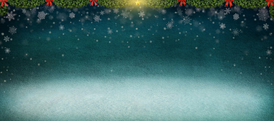 Night winter background