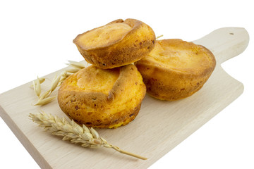 Corn muffins on a cutting board 2