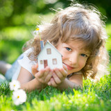 Ecology house in hands - Fine Art prints