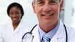 Medical team smiling at camera