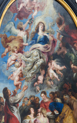 Antwerp - Assumption of Virgin Mary by Rubens - cathedral