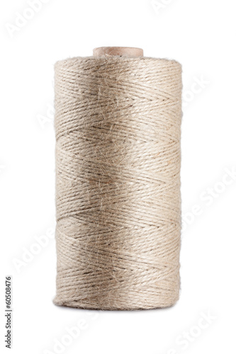 Coil of rope isolated on white