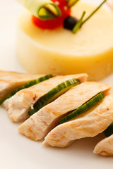 chicken with mashed potatoes for kids menu