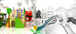 Leinwanddruck Bild - Parco Giochi, bambini, Divertimenti, Luna Park, Scivoli