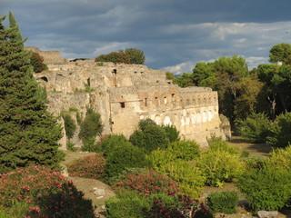 Italie - Pompéi - remparts de la ville