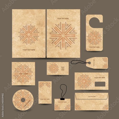 Business cards collection, ethnic style for your design