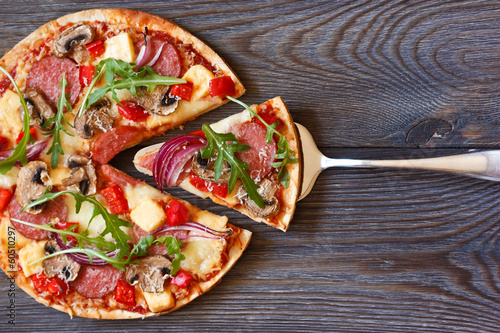 Deurstickers Assortiment Pizza.
