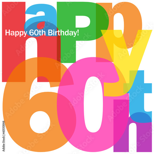 """HAPPY 60TH BIRTHDAY"" CARD (sixty party celebration congrats)"