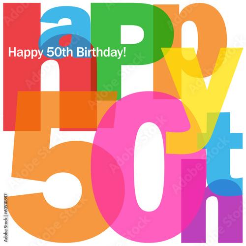 Happy 50th Birthday Card Fifty Party Celebration Congrats Buy