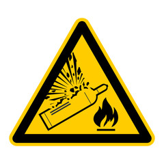 symbol for flammable gases explosion german brennbare gase g449