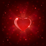 Red shiny heart