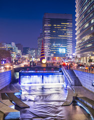 Seoul, South Korea at Cheonggye Stream