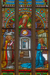 Bratislava - Annunciation scene on windowpane - cathedral